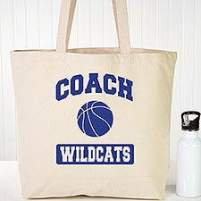 Personalized Canvas Tote Bags For Coaches - 22623