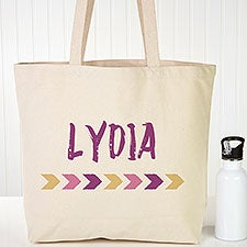 Personalized Beach Canvas Tote Bags - Tribal Name - 22637