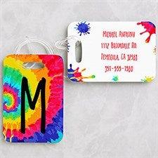 Tie-Dye Fun Personalized Kids Luggage Tags - 22641