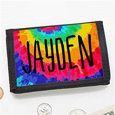 Tie-Dye Fun Personalized Kids' Wallet - 22643