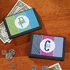 Personalized Kids Wallets - Colorful Name & Initial - 22644