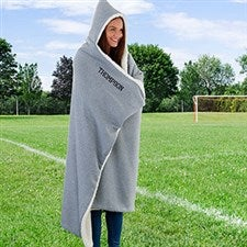 Personalized Outdoor Hooded Sweatshirt Blanket - 22651