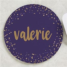 Sparkling Name Personalized Round Mouse Pad - 22662