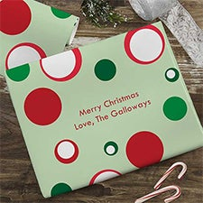Holiday Circles Personalized Wrapping Paper - 22665