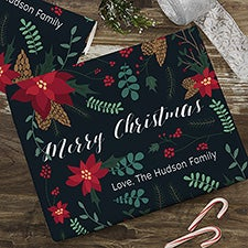Poinsettia Motif Personalized Wrapping Paper - 22668