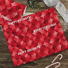 Red Holiday Pattern Wrapping Paper - 22674