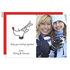 Sparkle Reindeer Holiday Photo Cards - 22684