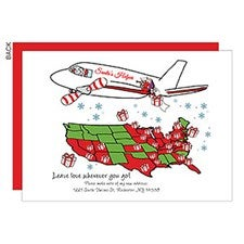 Santa's Helper Personalized Holiday Moving Cards - 22691