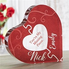 Missing Piece Personalized Romantic Heart Keepsake Gift - 22695
