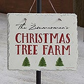 Christmas Tree Farm Personalized Slate Plaque - 22699