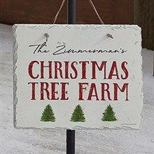 Christmas Tree Farm Personalized Slate Plaque - 22699