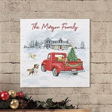 Farmhouse Holidays Personalized Canvas Prints - 22721