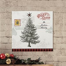 Postcard Christmas Tree Personalized Canvas Prints - 22730