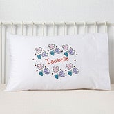 Personalized Kids Pillowcases - Conversation Hearts - 2274