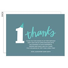 1st Birthday Milestones Personalized Thank You Cards - 22771
