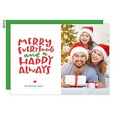Merry Everything, Happy Always Holiday Photo Cards - 22783