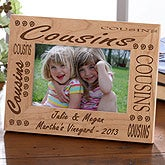 Engraved Cousins Wood Picture Frame - 2279