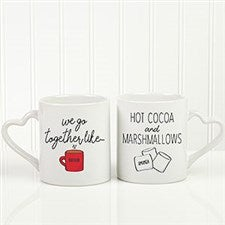We Go Together Like Hot Cocoa & Marshmallows Personalized Mug Set - 22809
