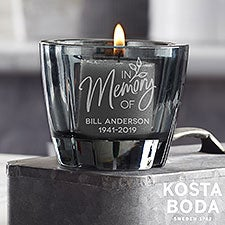 Kosta Boda Grey Votive Personalized Memorial Candle Holder - 22818