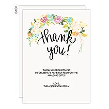 Personalized Floral Thank You Cards - 22848