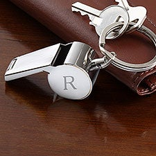 Personalized Whistle Keychain - Name, Monogram, Initial - 22862