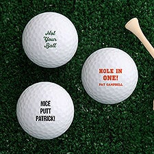 Personalized Golf Balls - Add Any Text - 22872