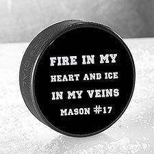 Personalized Hockey Pucks - Add Any Text - 22876