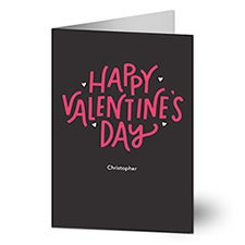Hand Lettered Personalized Valentine's Day Greeting Cards - 22903