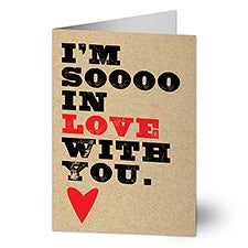 So In Love Personalized Greeting Cards - 22905