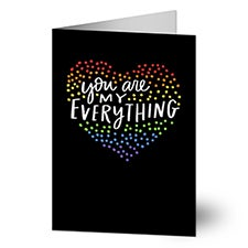 You Are My Everything Personalized Greeting Cards - 22906