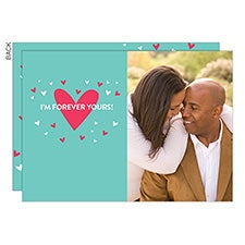 Hearts Personalized Valentine's Day Photo Cards - 22913