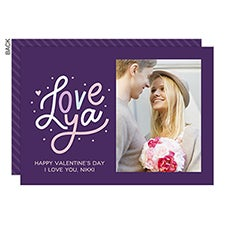 Love Ya Custom Valentine's Day Photo Cards - 22914