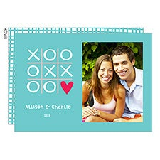 Tic Tac Toe Personalized Valentine's Day Photo Cards - 22915