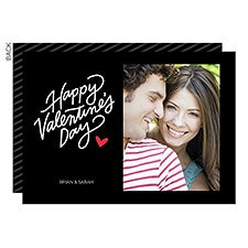 Hand Lettered Valentine's Day Custom Photo Cards - 22917