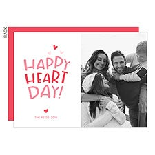 Happy Heart Day Custom Valentine's Day Photo Cards - 22920