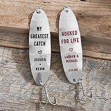Personalized Fishing Lures - Wedding Keepsake Gift - 22929