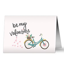 Bicycle Be My Valentine Personalized Greeting Cards - 22941