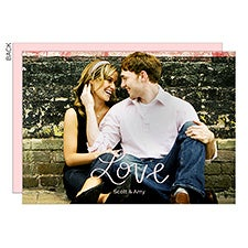 Hand Lettered Love Custom Photo Cards - 22945
