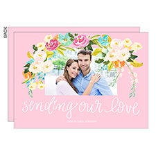 Sending Our Love Floral Photo Cards - 22947