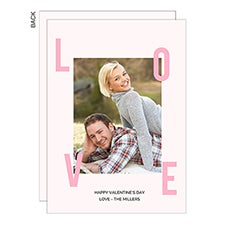 Love Text Custom Photo Valentine's Day Cards - 22948