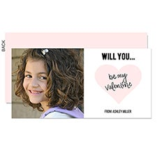 Will You Be My Valentine Custom Classroom Valentine Cards - 22949