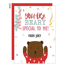 You Are Beary Special Personalized Valentine's Day Cards - 22950