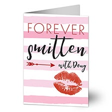 Forever Smitten Personalized Romantic Greeting Cards - 22956