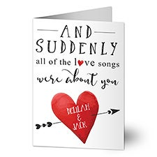 Love Songs Personalized Greeting Cards - 22960