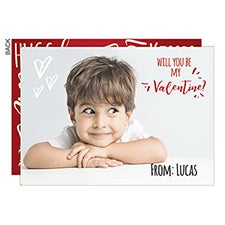 Will You Be My Valentine? Personalized Photo Cards - 22965