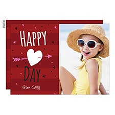 Happy Day Custom Valentine's Day Photo Cards - 22966