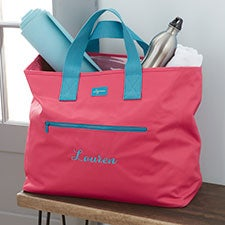Essential Embroidered Tote Travel Bag - 22969