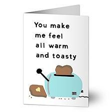 Warm & Toasty Personalized Greeting Cards - 22999