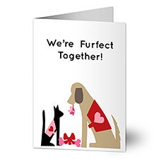 We're Furfect Together! Personalized Greeting Cards - 23002