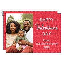 Valentine's Day Kiss Custom Photo Cards - 23015